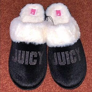 Juicy Couture Black Studded Home Slippers
